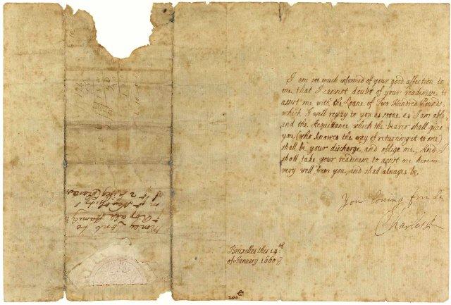 ZKZ King Charles Letter 1660