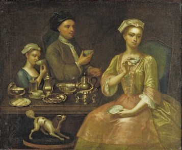 1 Richard Collins, A Family of Three at Tea, 1727